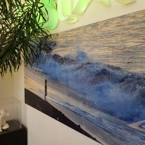 Beach Print On Acrylic