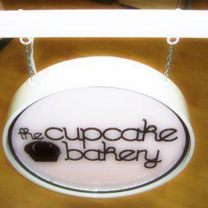 Cupcake Bakery Fabricated Sign
