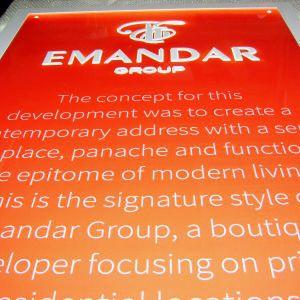 Edge Lit Engraved Sign