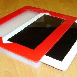 IPAD Acrylic Sleeve Red White