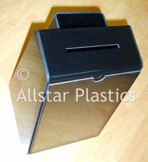 Lunch Box Ticket Holder Black Acrylic