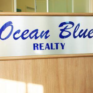 Ocean Blue Reception Sign