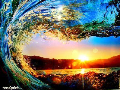 Sunset Wave Print