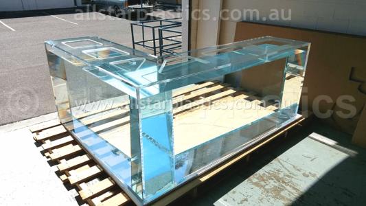 L Shape Aquarium Custom Made and Fabricated