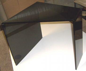 Black Acrylic Desk Display Curved Design