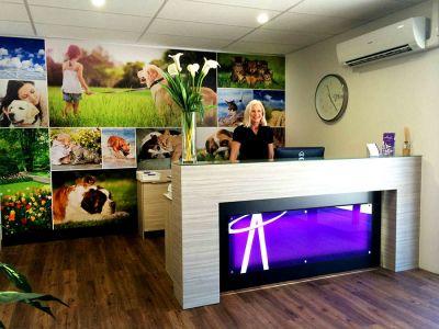 Polyethylene Wall Print - Reception Area