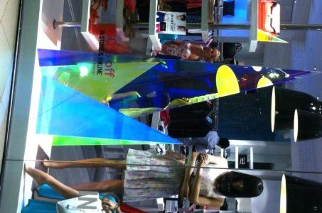 SABA Retail Store  Pyramid material Radiant Plexiglas.