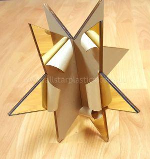 Xmas Star in Gold Acrylic Mirror