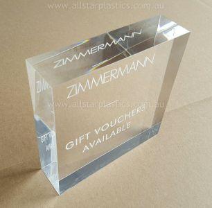 40mm Engraved Acrylic Block