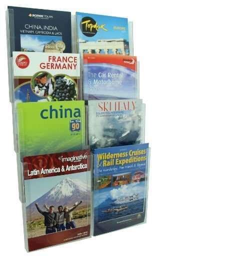 cliplock a4 wall system, brochure wall holder