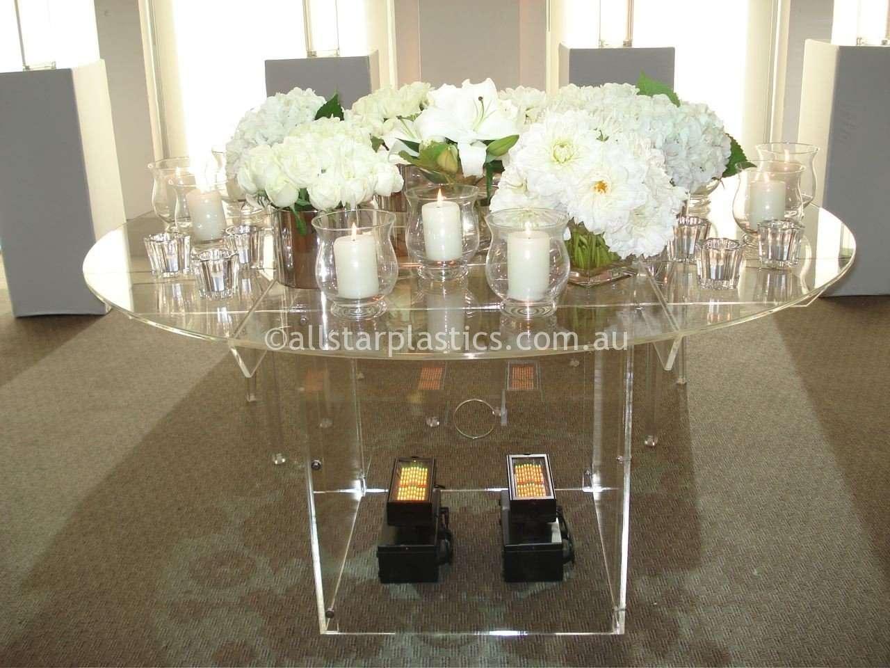 Acrylic Table Wedding - light setup underneath.