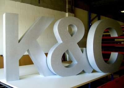Polystryrene Letters Wedding Couples Initials. Over 2 Metres High