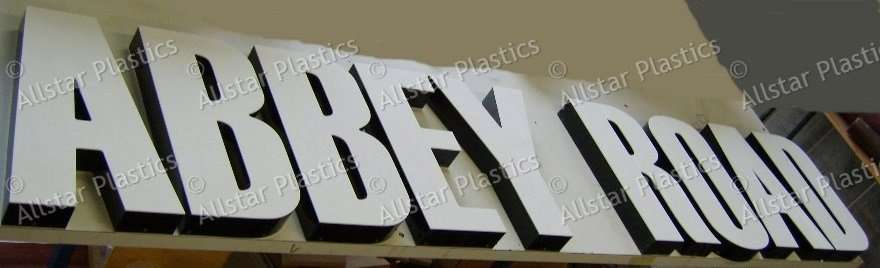 Fabricated Letters with Black /White Acrylic.