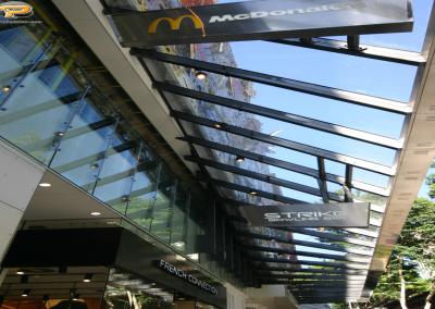 Awnings Plexiglas Queen Street Mall Civic Glass