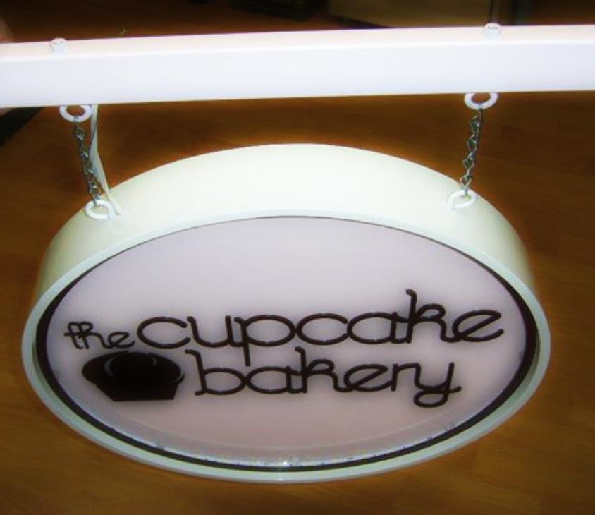 The Cupcake bakery- Fabricated Signage