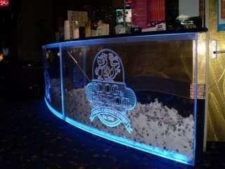 Competition showcase led edge lit logo