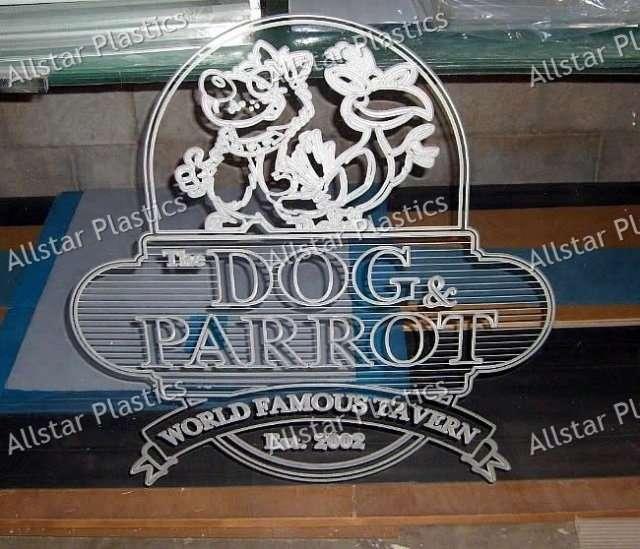 Competition Showcase Engraved LED Edge Lit Logo