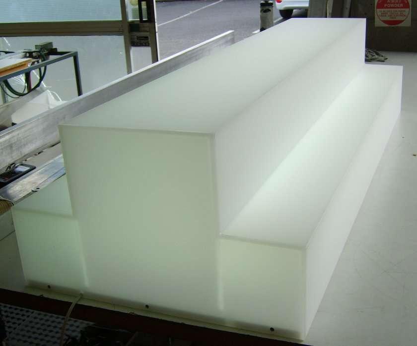 Lightbox Opal Acrylic Illuminate Step 1: 2metres Step 2: 1 metre