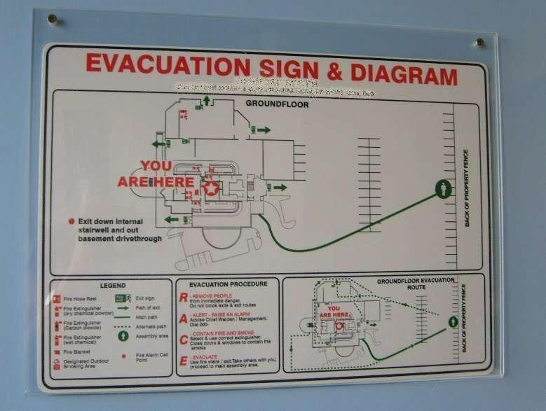 Evacuation poster holder acrylic