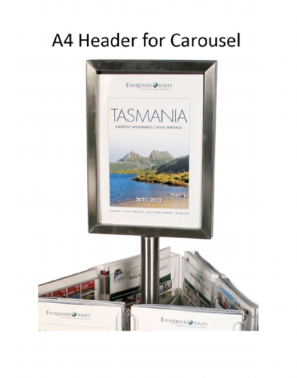 A4 Header for Brochure Holder Carousel
