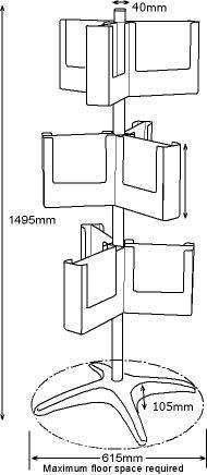 Floorstanding Brochure Holder CS3