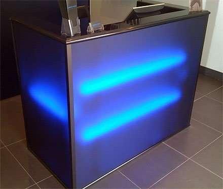 Satin Ice Sky Blue with Fluorolight