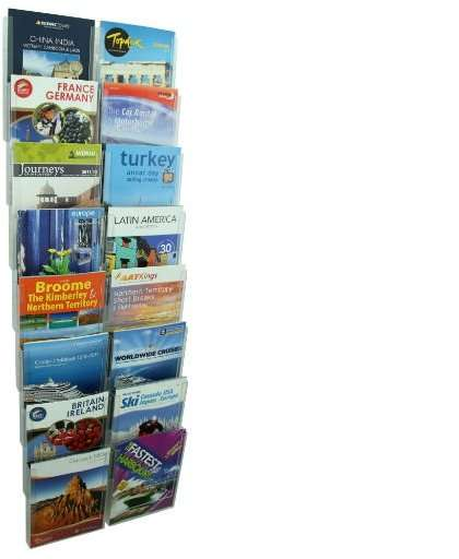 brochure holder wall system