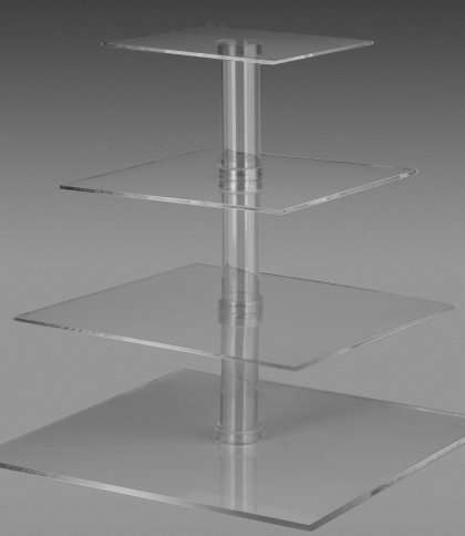 4 tier Cup Cake Stand Square