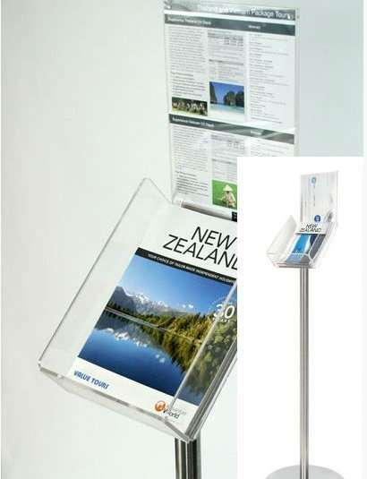 floor standing brochure holder